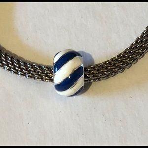 🆕Listing! Brighton enameled blue & white bead